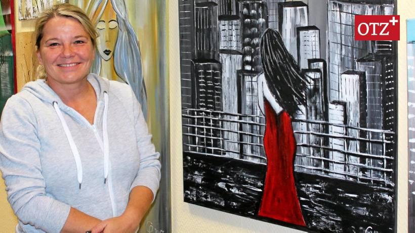 Christina Poser Aus Gera Stellt Bei Farben Kesseler Aus Land Und