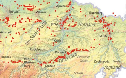 Geologische Karte Thüringen.Die Vorfahren Mieden Erdfall Gebiete Leben Ostthüringer Zeitung