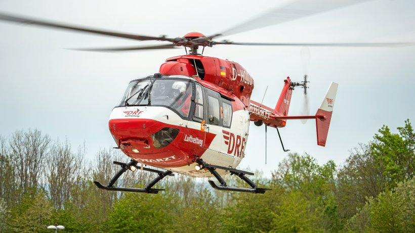 Hubschrauber über Rudolstadt