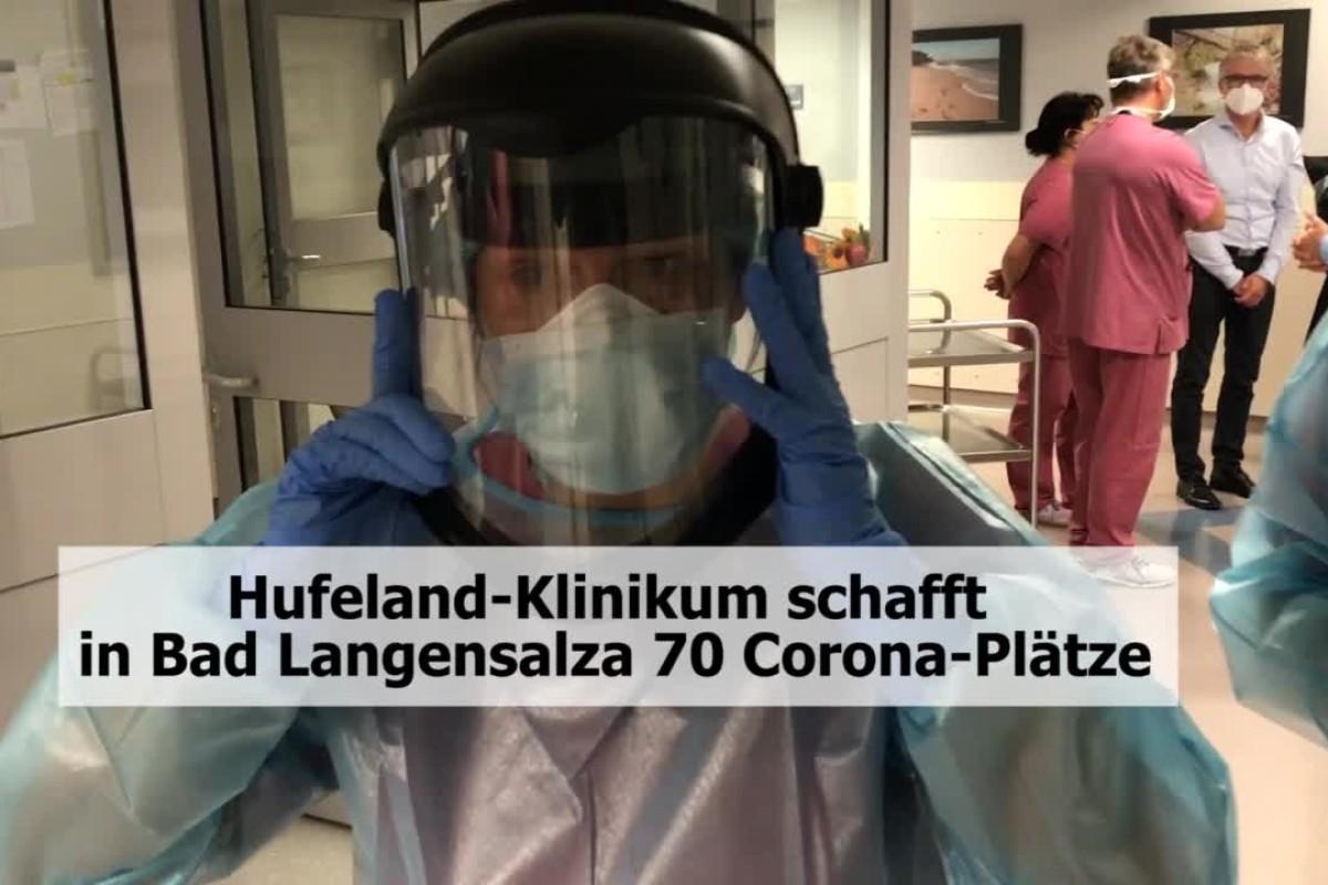 Hufeland Klinikum Schafft In Bad Langensalza 70 Corona Plätze Video Ostthüringer Zeitung